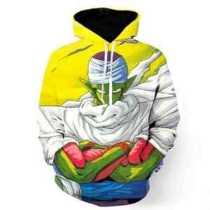Dragon Ball Piccolo Namekian Evil King Cape Cool Design Streetwear Hoodie