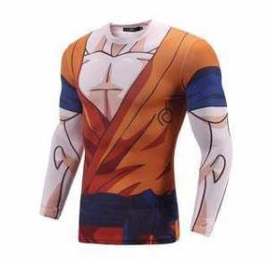 Goku Uniform Whis Symbol Long Sleeves Skin Gear Compression 3D Shirt - Saiyan Stuff