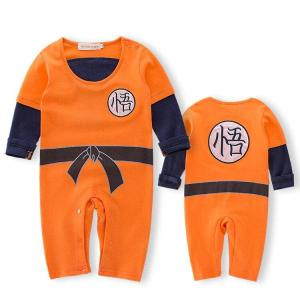 DBZ Long Sleeve Goku's Kanji Black Belt Cosplay Baby Jumpsuit