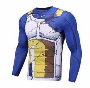 Vegeta Damaged Saiyan Armor Workout Long Sleeves Compression 3D Shirt