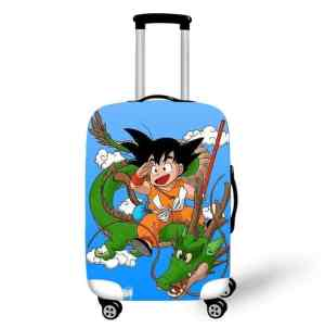 DBZ Happy Kid Goku And Shenron Fan Art Suitcase Cover