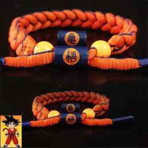 Goku Kame Kanji Orange Blue Lining Nylon Braided Bracelet