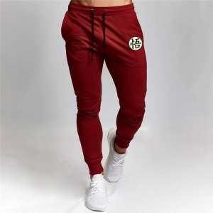 DBZ Son Goku Cool Kanji Symbol Red Training Sweatpants