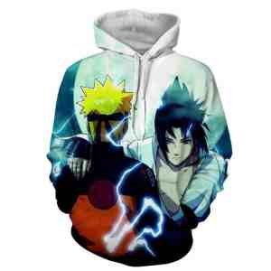 Naruto And Sasuke Japan Anime Awesome Fan Art Cool Hoodie