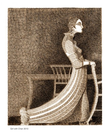 Girl With Chair