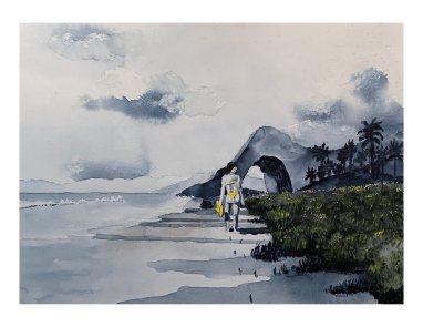 Girl on Beach-2020
