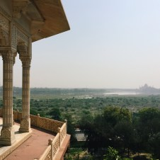 The first time I saw the Taj Mahal was from this balcony in the Agra fort. In this marble tower (Musaman Burj), the emperor Shah Jahan would stare out at the monument he had built for his wife Mumtaaz. The love for his wife was juxtaposed against the jealousy and desire for power of his son, who had Shah Jahan imprisoned here until his death. I remembered all the Arabian love and folklore stories with which I grew up, and I can only imagine the significance of visiting this site for the locals who grew up with the story of the Taj Mahal.