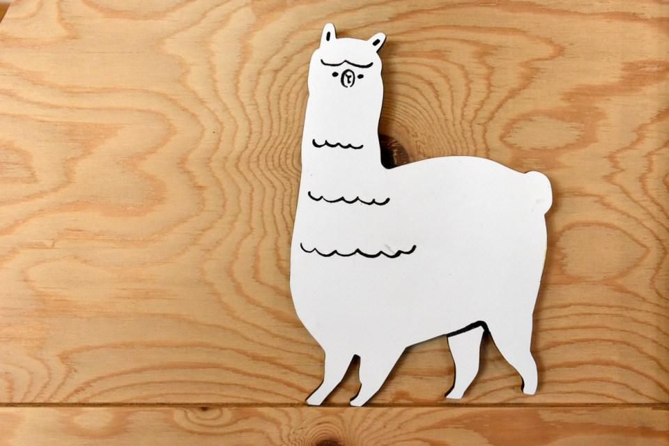なめみそさんが描いたアルパカのイラストボード