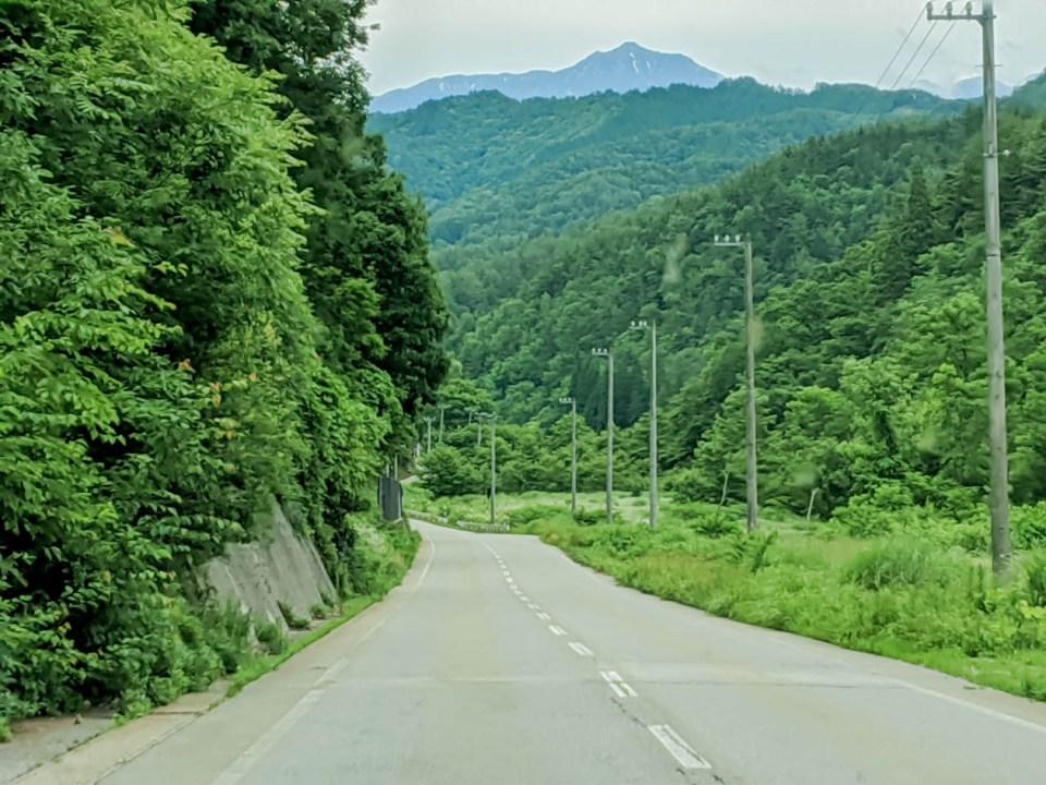 ドライブ途中の景色