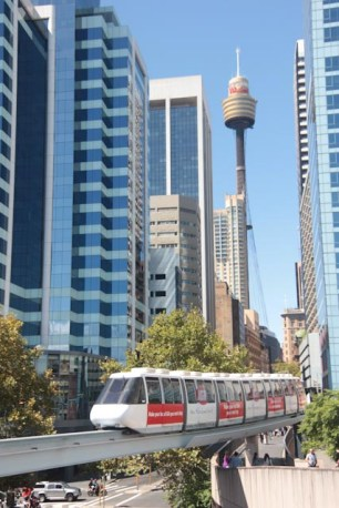 Le monorail et la tour de sydney