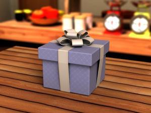 プレゼントボックス3DCG