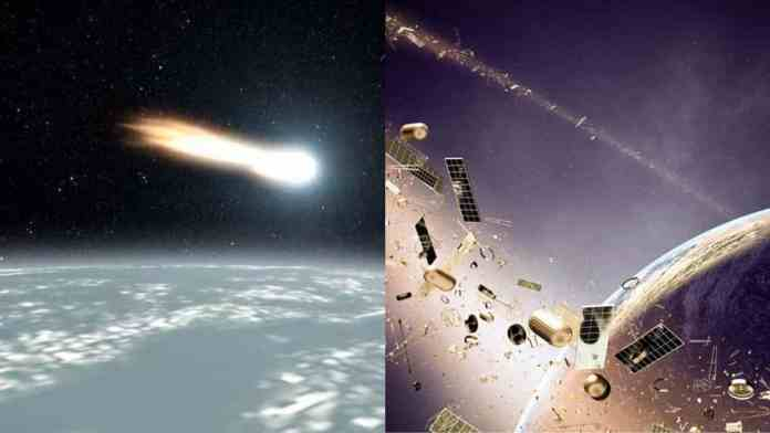 However, the Harvard professor claims that the 'aliens' have thrown space junk towards the earth
