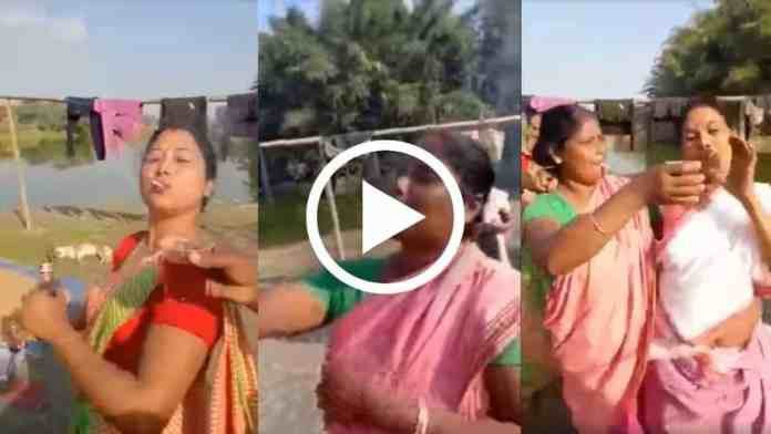 Viral video of women holding picnics with glasses of alcohol in their hands and cigarettes in their mouths