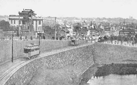 古写真:九段坂と都電