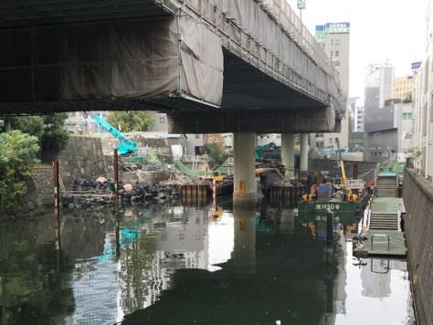 現在修復中の常盤橋