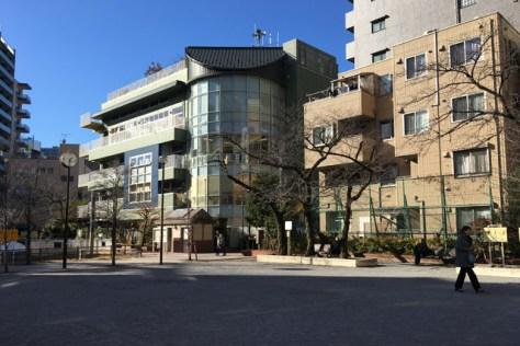 赤羽接遇所があったあたり、飯倉公園。