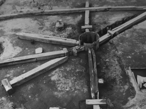 汐留の仙台藩邸の地下水道網。