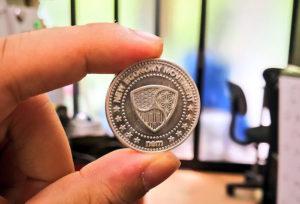 Pure Silver NEM coin (99.99% silver)