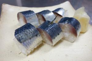 実は今日から再登場「イワシの棒寿司」。