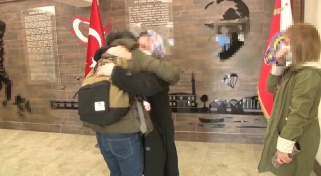 İkna yoluyla teslim olan terörist, ailesiyle buluşturuldu