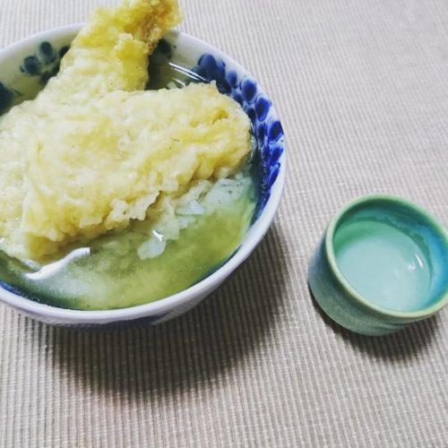 穴子の天ぷら茶漬けで一献!