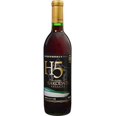 北海道新幹線開業記念ワイン セイベルJ H5ラベル