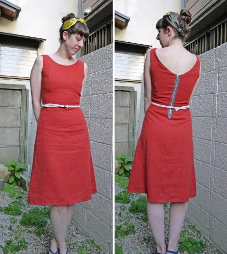 Orange dress, May 2013
