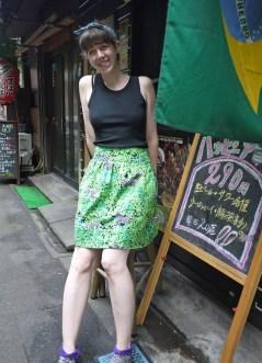 Summer play skirt 2: Zebra Forest, Aug 2013