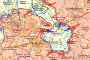 Debalchevo - Mappa riassuntiva