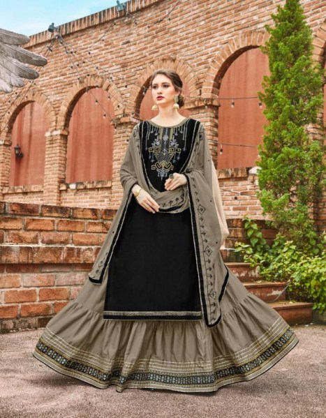 Kalaroop  Ruby by kajree Readymade lehenga style Designer suits