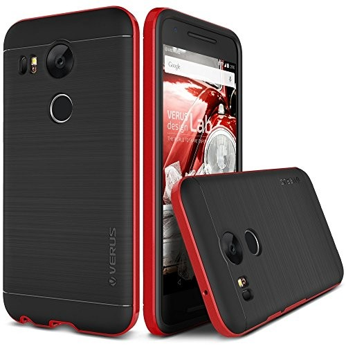 Nexus 6P ケース VERUS High Pro Shield PCバンパー × ヘアライン TPU ハイブリッド ケース for Google Nexus6P クリムゾンレッド