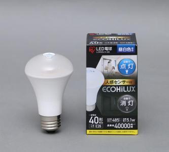 アイリスオーヤマ(IRIS OHYAMA) LED電球 人感センサー付 口金直径26mm LDR5N,H,S6