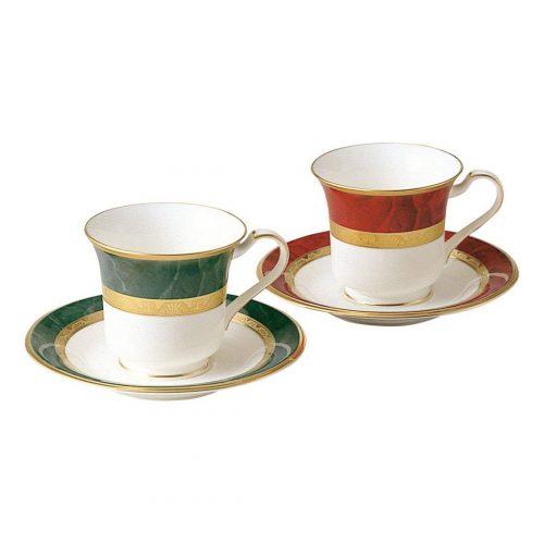 ノリタケ(Noritake) フィッツジェラルド&ヘミングウェイ アメリカン碗皿ペア