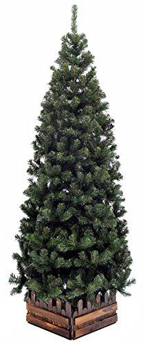 山本人形 クリスマスツリー スリム濃緑 品質保証高級ツリー