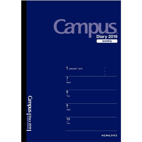 コクヨ(KOKUYO) キャンパスダイアリー ウィークリー・ホリゾンタルレフト ニ-CWHDB-A5-19