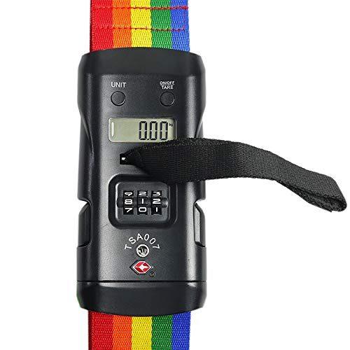 スーツケースベルト TSAロック 3桁ダイヤル重量計付