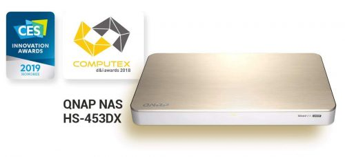 キューナップ(QNAP) ファンレスマルチメディアNAS HS-453DX