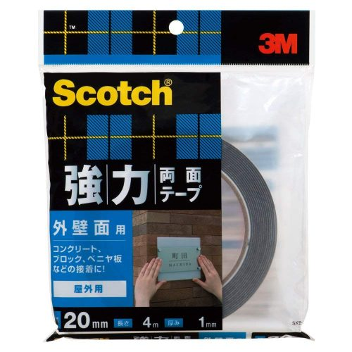 スリーエム(3M) スコッチ 強力両面テープ 外壁面用 SKB-20