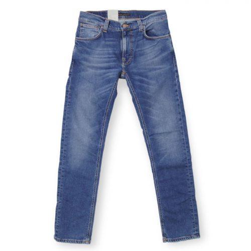 ヌーディージーンズ(Nudie Jeans) シンフィン Mid Blue Ecru