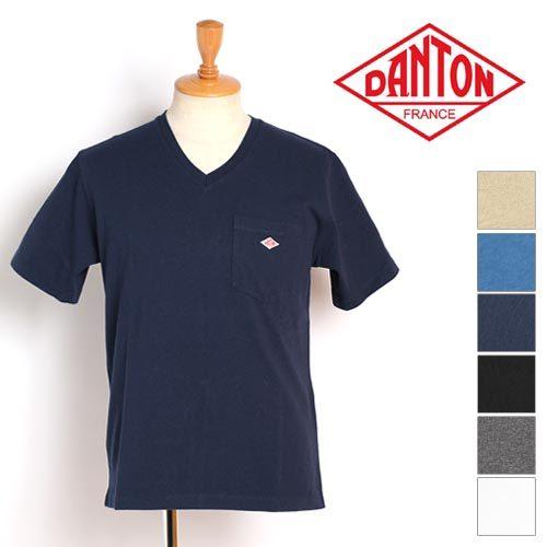 ダントン(DANTON) VネックポケットTシャツ