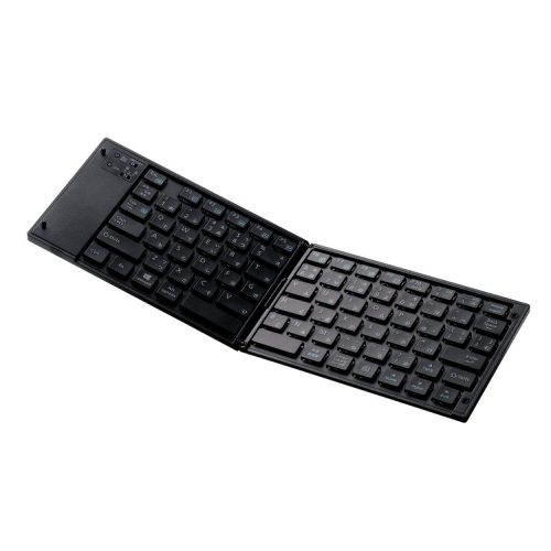エレコム(ELECOM) ワイヤレスキーボード 折りたたみ TK-FLP01BK