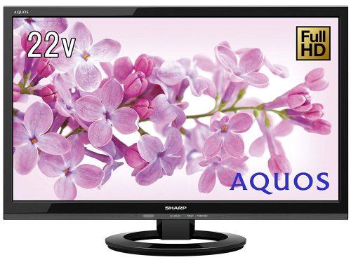 シャープ(SHARP) 液晶テレビ AQUOS K45ライン LC-22K45-B