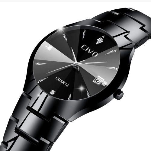 チーヴォ(CIVO) アナログクオーツ腕時計 CIVO-0104M-Steel Black jp