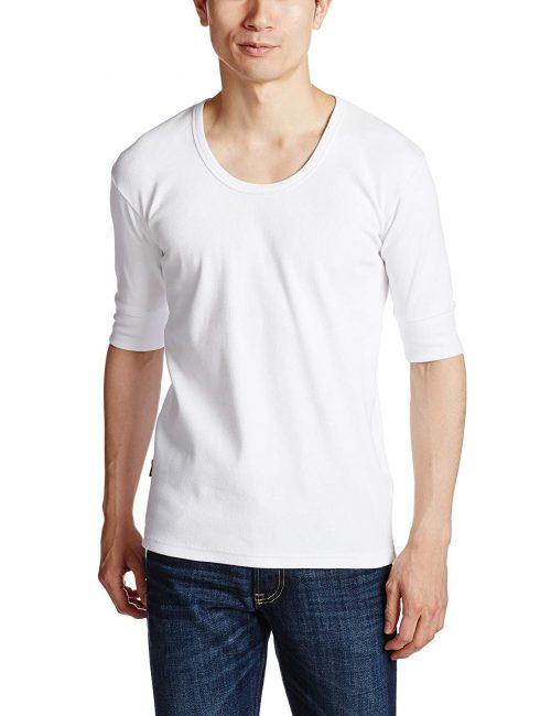 アヴィレックス(AVIREX) Uネック5分袖 Tシャツ