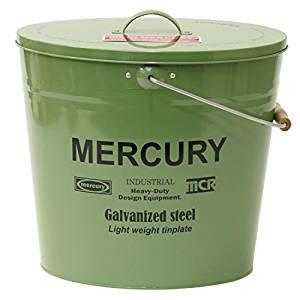 マーキュリー(MERCURY) ブリキバケツ オーバルふた付き