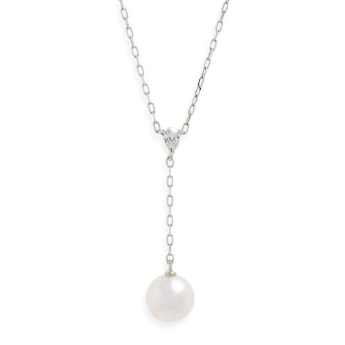 ミキモト(MIKIMOATO) Pearl & Diamond Y-Drop Necklace