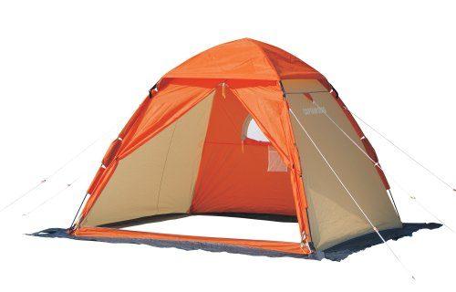 キャプテンスタッグ(CAPTAIN STAG) ワカサギ釣り ワンタッチ テント 210 オレンジM-3131