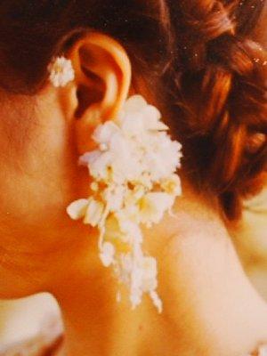 エムスール(m.soeur) お花のイヤーカフ