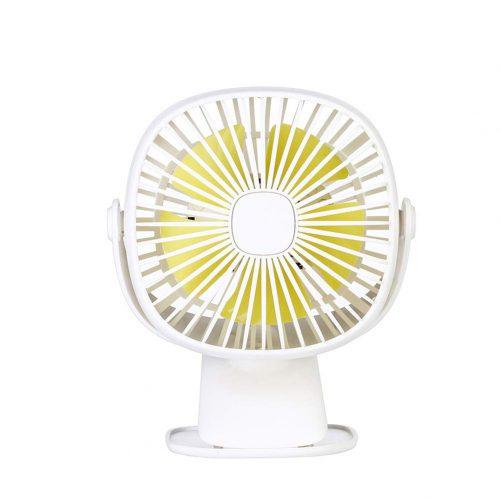 MILICOCO LEDライト付きクリップ扇風機
