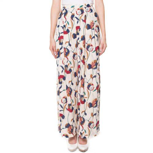 ダブルスタンダードクロージング(DOUBLE STANDARD CLOTHING) オリジナル フェミニッシュ梨地ワイドパンツ